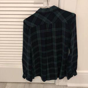 Rails Tops - Rails Hunter Green and Navy Plaid Shirt!